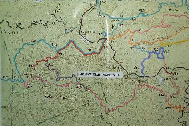 Raven Cliff Falls Loop - Sc waterfalls map